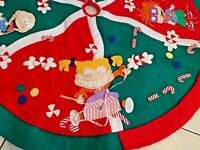 Vintage Christmas Tree Skirt Felt RUGRATS 1998 Rug Rats Nickelodeon HOLIDAY