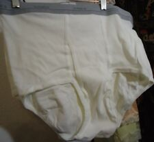 Nos Vtg Hanes White 100% Cotton Briefs Tighty Whites Xl 40/42 3pr Unworn W 33-42