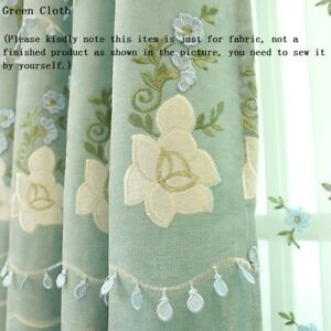 Floral Fabric for Curtain Sheer Tulle Embroidered Cloth Home Chic Decor Princess