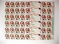 1983 Sheet of American Lung Association Christmas Seals w/ Santa