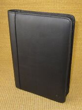 Classic Size | Black LEATHER FRANKLIN COVEY Notepad/Smartphone Holder Folio