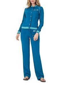 BCBG MAXAZRIA, Branded Logo/Sport Jacket & Pant Set BC13700J/P Blue