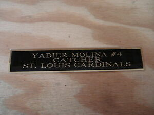 Yadier Molina Cardinals Autograph Nameplate For A Baseball Photo Or Bat 1.5 X 6