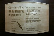 Personalized Maple Cutting Board recipe Mother's day Birthdays Christmas gifts