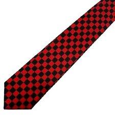 NEW Retro Red & Black Checkered Check Tie indie rock