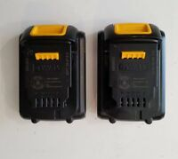 (2) DEWALT DCB201-2 20V 20 Volt Li-Ion Battery Pack 1.5 Ah RECONDITIONED