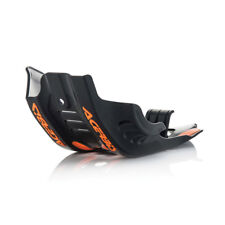 Acerbis MX Enduro Bike Skid Plate - KTM SXF450 16-18 - Black w/Orange
