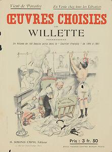 Original Vintage Print Oeuvres WIllette Art Nouveau Courrier Francais Exhibition