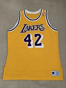 James Worthy Los Angeles Lakers Champion Authentic NBA Jersey Size 48