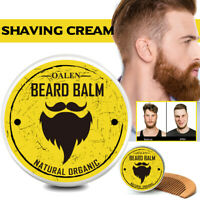 2Pcs Kit Entretien Soin Barbe Avec crème à Raser Huile Beard Grooming et Peigne