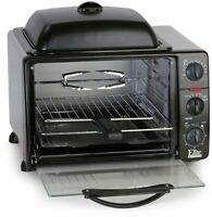 ELITE Griddle Counter Top Toaster Oven Broiler with 5 Functions, Platinum Black