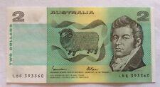 Australia banconota. due Dollari. UNC. DATATO 1985.