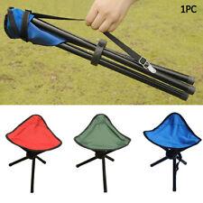 Travel Folding Tripod Slacker Chair Camping Stool Seat Hiking Fishing Outdoor