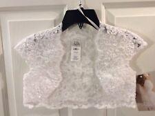 US Angels White Lace Bolero for Girls Size 6X  New $67