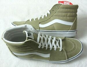 Vans Men's Sk8-Hi Cornstalk Beige True White Canvas Suede Skate shoes Size 13