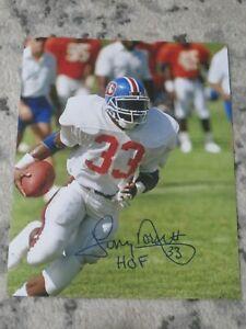 Denver Broncos TONY DORSETT Signed 8x10 Photo NFL HOF AUTOGRAPH