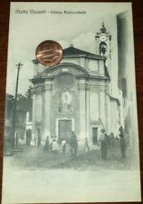 Cartolina d'epoca paesagg Itali Lombardia Milano Motta Visconti Chiesa Parrocc