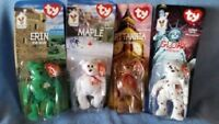 NIP McDonalds Happy Meal Toy TY Teenie Beanie Babies All 4 Collector Bears 97/98