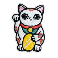 lucky cat cloth badge patch embroidered applique sewing patches clothe sticker .
