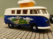 1/87 Brekina # 1279 VW T1 b Camper mit Alpenlandschaft Sondermodell Reinhardt