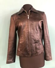 Adler Collection Women's Black Genuine Leather Jacket M GUC