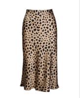 Ins Hot Leopard Rock Die Seide Par Naomi-Rockkleid Mehrere Größen Realisation