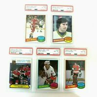 1980-81 OPC O-Pee -Chee Hockey PSA Graded Lot of 5 Pete Peeters