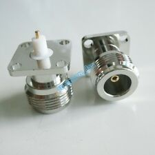 5Pcs N female Jack with 4 holes flange deck PTFE solder 17.5X17.5 RF connector