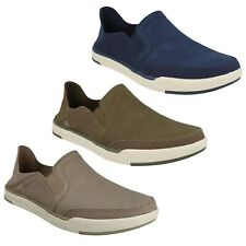 STEP ISLE ROW MENS CLOUDSTEPPERS CLARKS CANVAS SLIP ON SHOES CASUAL ESPADRILLE