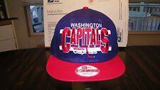 WASHINGTON CAPITALS VTG NWT HAT CAP SNAPBACK NHL NEW ERA  FREE S+H