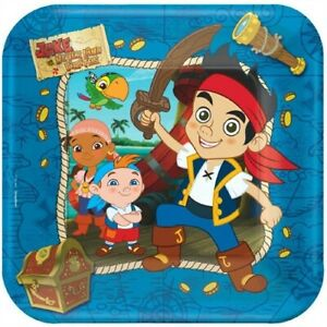 Jake And The Never Land Pirates Party Supplies Dinner Paper Plates - Set of 2