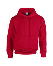 Rojo Cereza Adulto Gildan Liso Capucha Mezcla RESISTENTE sweatshirtpullover