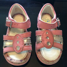 Clarks Baby Girls' Sandals Shoes with Hook & Loop Fasteners