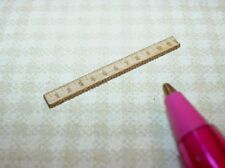 Miniature Laser-Cut Wooden Ruler, High Detail!  DOLLHOUSE Miniatures 1/12
