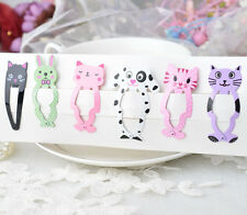 New 6pc Animal Hairpin barrettes Hair clips Snap Clips Children Hair Accessories