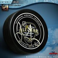 JAROMIR JAGR Signed 2016 NHL All Star Game Official Game Puck - Florida Panthers