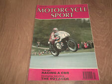 MOTORCYCLE SPORT VINTAGE MAGAZINE FEBRUARY 1990 ~ RACING A CBR