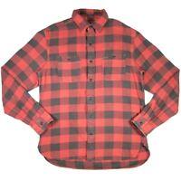 RRL Ralph Lauren M Buffalo Check Red & Black Plaid Cotton Pocket Work Shirt