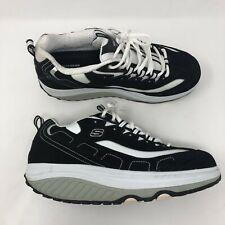 Skechers Shape-Up Rocker Shoes Womens 10 Black Leather Walking Sneakers 0032