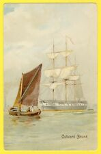 cpa Post Card Illustration MISCH & STOCK'S Entrance to the thames OUTWARD BOUND