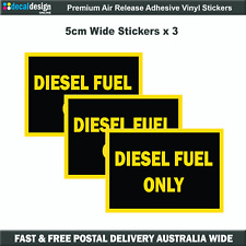 Diesel Fuel Only Decals x3 Gloss Laminated Stickers In Each Set #D008