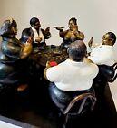 Bruno Luna Bronze Poker Table Sculpture
