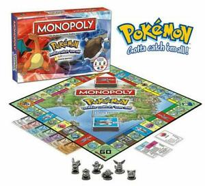 Pokemon Kanto Monopoly Family Board Game Edition 4 Pikachu