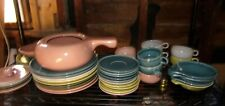 43 Pieces Russel Wright Steubenville Dinnerware Yellow Green Blue Canteloupe