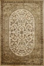 Victorian Style Floral Beige/Brown 6'x9' Aubusson Oriental Area Rug Hand-tufted