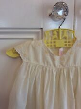 Vintage Baby Girl Pale Yellow Emboidered Dress Size 00? 🍃