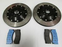 Alcon 343mm disc and bell assy C/with Ferodo DS performance pads, fits Subaru
