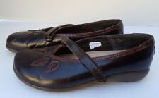 Womens Shoes Naot Casual Mary Jane Black Red Maroon Burgundy Flat 39 L8