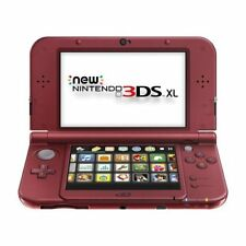 Nintendo New 3DS XL Red Handheld Console Very Good Portable System 2Z