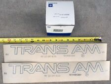 NOS 91-92 Firebird Trans Am door decals GM 82-92 original new old stock GM